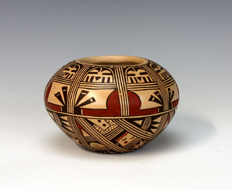 Hopi Native American Indian Pottery Kachina Bowl - Louden Silas