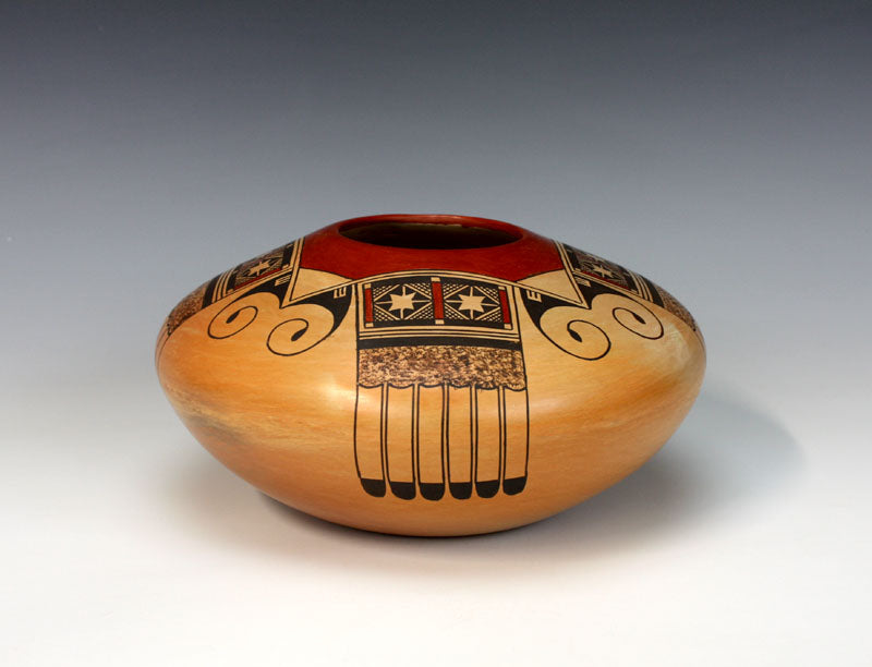 Hopi American Indian Pottery Eagle Tail Jar - James Garcia Nampeyo