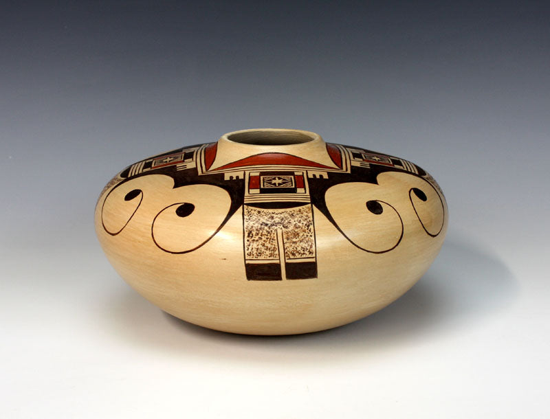 Hopi American Indian Pottery Eagle Tail Jar - Tonita Nampeyo