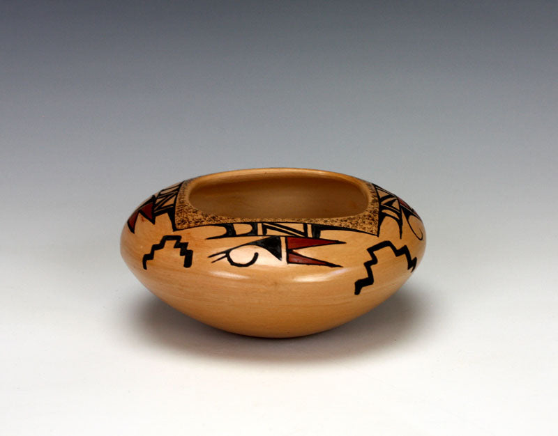 Hopi Native American Indian Pottery Small Bowl - Lydia Mahle