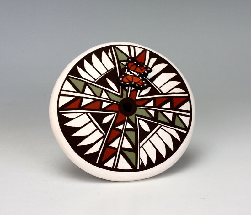 Jemez Pueblo American Indian Pottery Butterfly Seed Pot - Mary Lewis