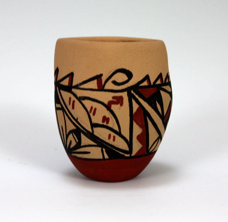 Jemez Pueblo American Indian Pottery Small Vase - Brenda Panana