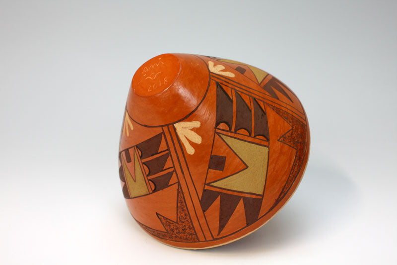 Hopi American Indian Pottery Eagle Tail Vase - Emerson Ami