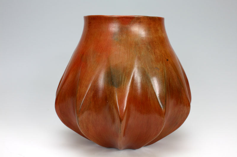 Navajo Native American Indian Pottery Melon Jar - Samuel Manymules