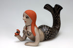 Cochiti Pueblo Native American Indian Pottery Mermaid - Mary Janice Ortiz