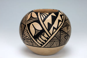 Jemez Pueblo American Indian Pottery Black & White Bowl #1 - Gabriel Gonzales