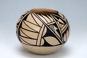 Jemez Pueblo American Indian Pottery Black & White Bowl #4 - Gabriel Gonzales