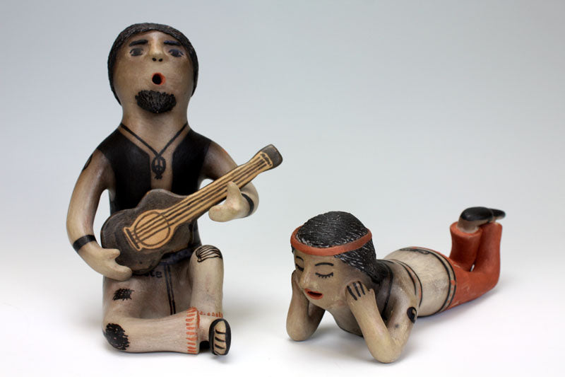 Cochiti Pueblo Native American Indian Pottery Hippie Couple- Joyce Ortiz