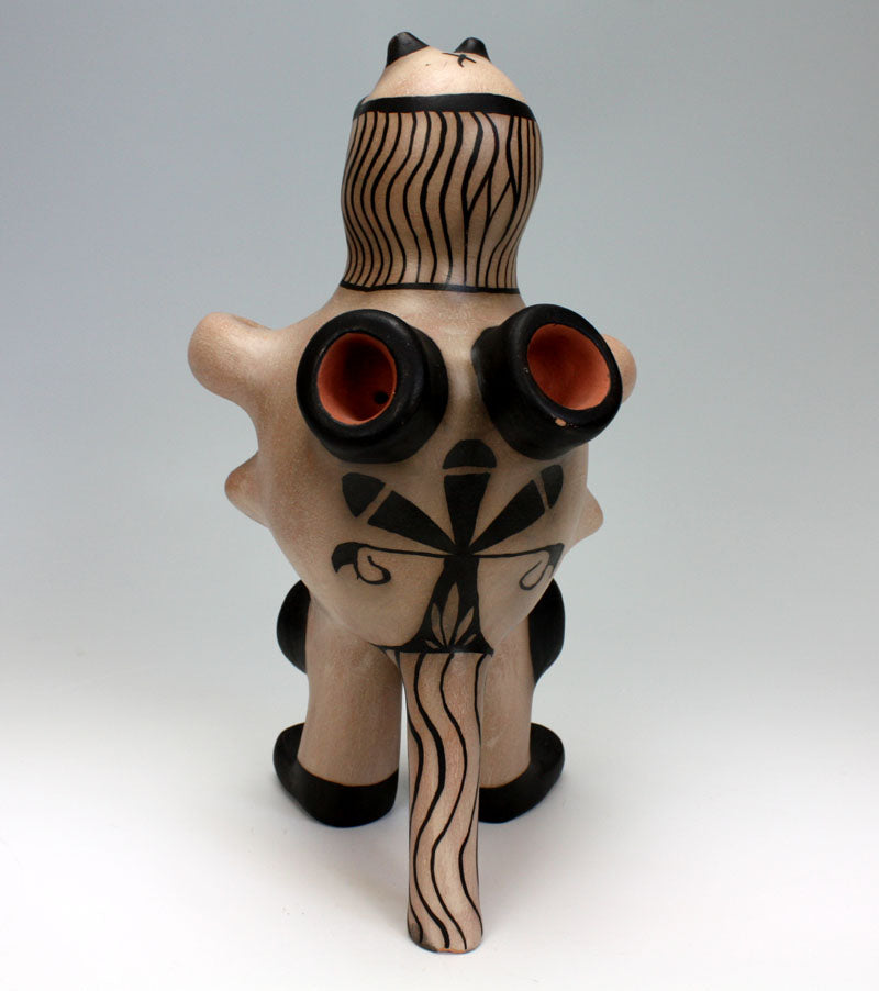 "Cochiti Pueblo Native American Indian Pottery ""Alien Man"" - Kyle Ortiz"