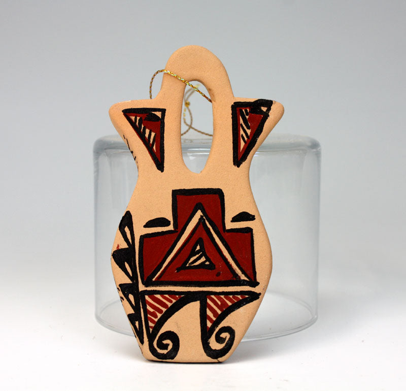 Jemez Pueblo American Indian Pottery Ornament #1 - Brenda Panana