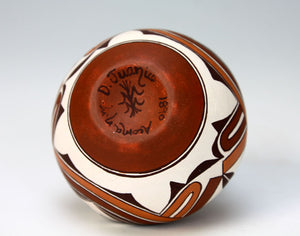 Acoma Pueblo Native American Indian Pottery Mini Olla - Delores Juanico