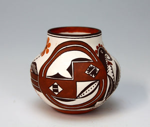 Acoma Pueblo Native American Indian Pottery Mini Olla #1 - Delores Juanico