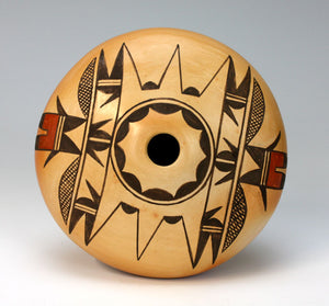 Hopi American Indian Pottery Eagle Tail Seed Pot - Darlene James Nampeyo