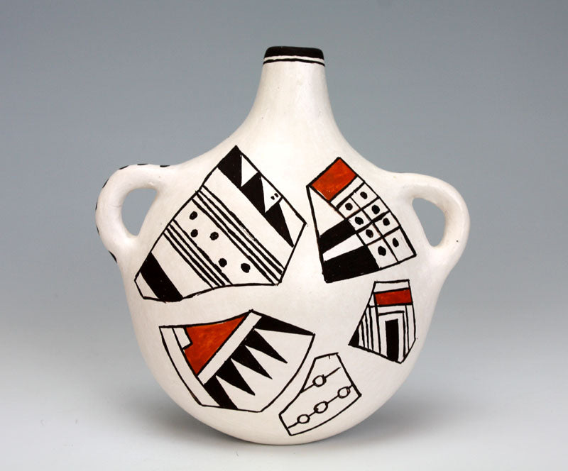 Acoma Pueblo Native American Indian Pottery Water Jar - Dolores Lewis