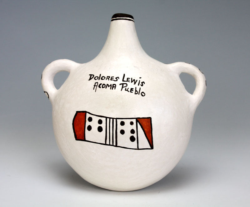 Acoma Pueblo Native American Indian Pottery Water Jar #1 - Dolores Lewis