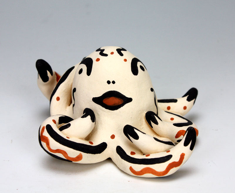 Cochiti Pueblo Native American Indian Pottery Octopus - Melissa Bowannie