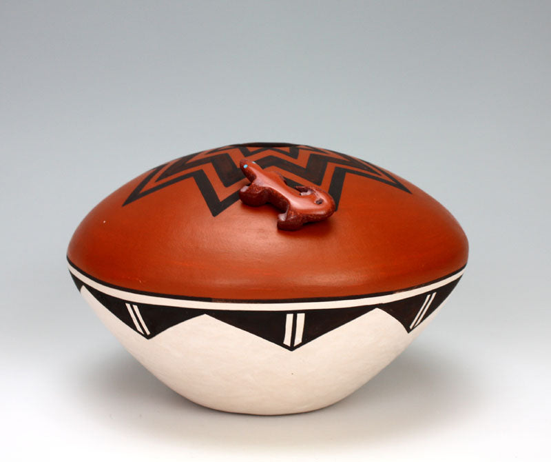 Acoma Pueblo Native American Indian Pottery Seed Pot - Flo & Lee Vallo