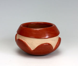 Santa Clara Pueblo Indian Pottery Carved Redware Bowl - Mary Cain