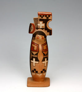 Hopi American Indian Pottery Hopi Maiden with Tablita - Darlene James Nampeyo