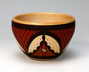Hopi Native American Indian Pottery Bowl - Stetson Setalla