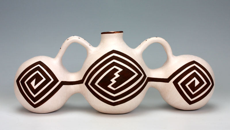 Acoma Pueblo Native American Indian Pottery Water Jar #1 - Flo & Lee Vallo