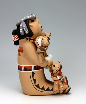 Jemez Pueblo American Indian Pottery Grandfather Storyteller - Emily Fragua Tsosie