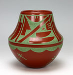 San Ildefonso Pueblo Indian Pottery Feather Jar - Erik Fender