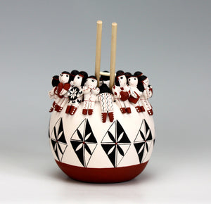 Cochiti Pueblo Native American Indian Pottery Friendship Pot #3 - Vangie Suina