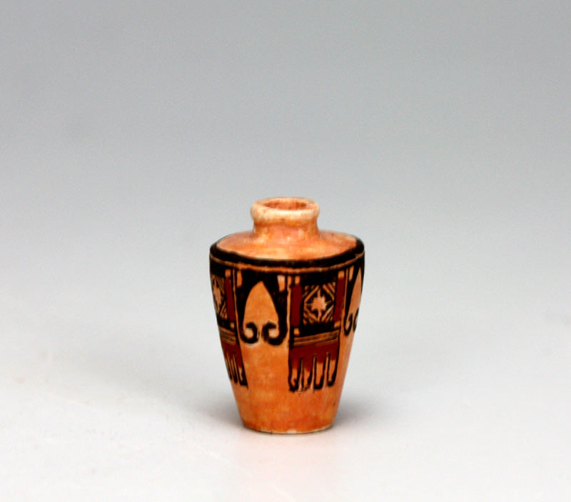 Laguna Pueblo Native American Pottery Eagle Tail Jar - Thomas Natseway