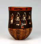 Navajo Native American Indian Pottery Yei-bi-chi Dancers Jar - Ida Sahmie