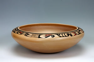 Hopi Native American Indian Pottery HUGE Bowl - Lydia Mahle