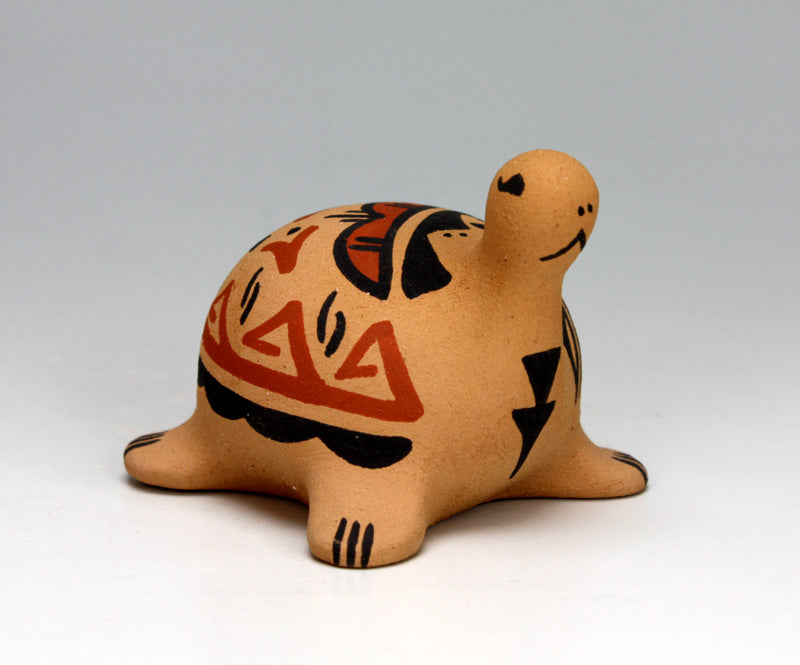 Jemez Pueblo American Indian Pottery Turtle Figurine - Renee Ortiz