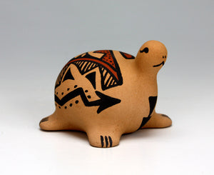 Jemez Pueblo American Indian Pottery Turtle Figurine #1 - Renee Ortiz