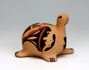 Jemez Pueblo American Indian Pottery Turtle Figurine #2 - Renee Ortiz