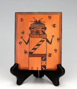 Hopi Native American Indian Pottery Corn Dancer Tile #1 - Terran Naha