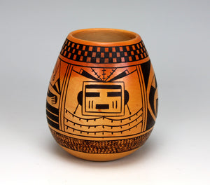 Hopi American Indian Pottery Coyote Jar - Garrett Maho