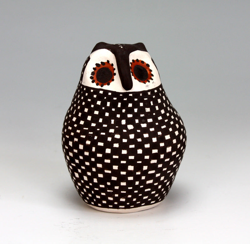 Acoma Pueblo Native American Indian Pottery Owl - Melissa Antonio