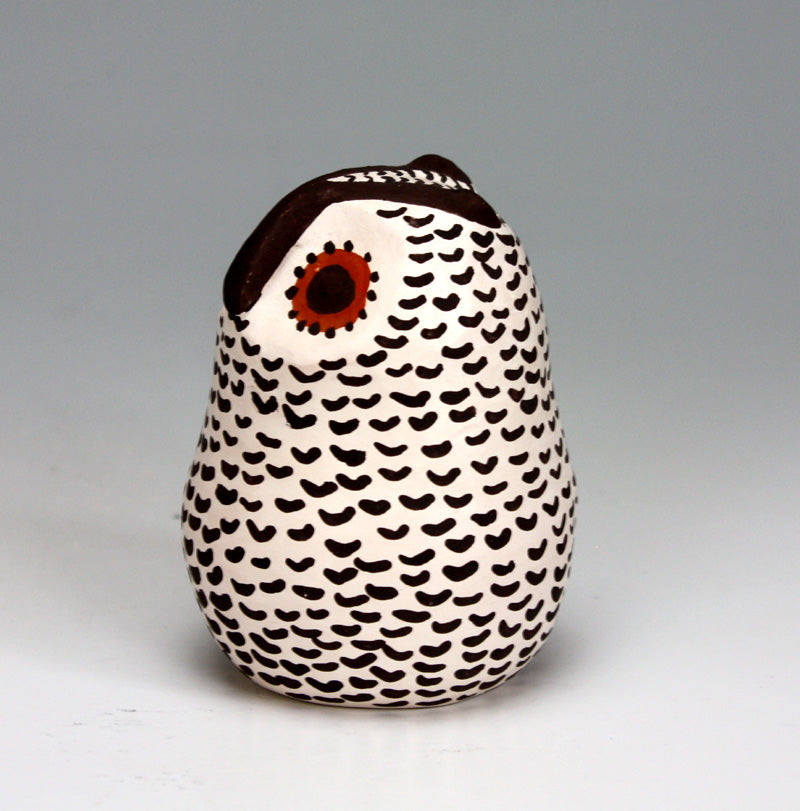 Acoma Pueblo Native American Indian Pottery Owl #1 - Melissa Antonio
