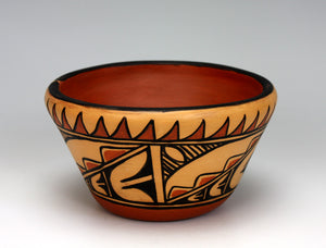 Kewa - Santo Domingo Pueblo American Indian Pottery Bowl #5 - Xavier Lucero