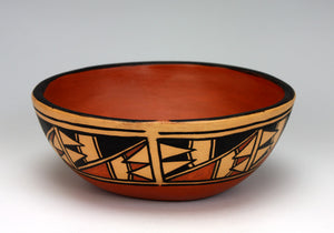 Kewa - Santo Domingo Pueblo American Indian Pottery Bowl #6 - Xavier Lucero