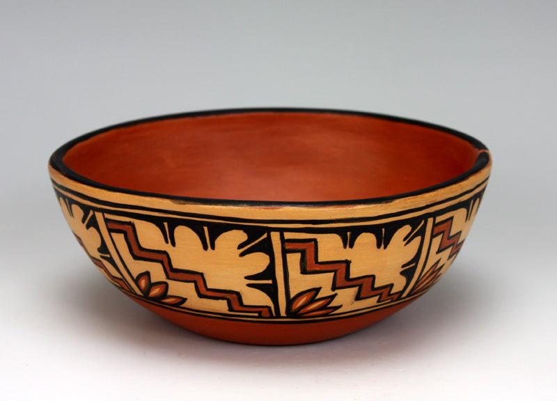 Kewa - Santo Domingo Pueblo American Indian Pottery Bowl #7 - Xavier Lucero