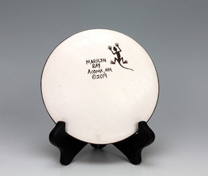 Acoma Pueblo Native American Pottery Dragonfly Plate - Marilyn Ray