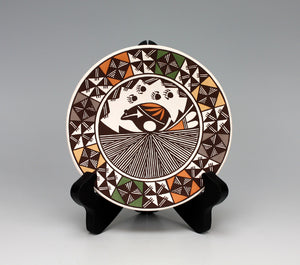 Acoma Pueblo Native American Pottery Bear Plate - Marilyn Ray
