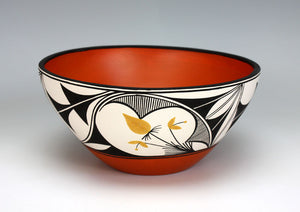 Zia - Acoma Pueblo Native American Indian Pottery Bowl - Yvonne Shije