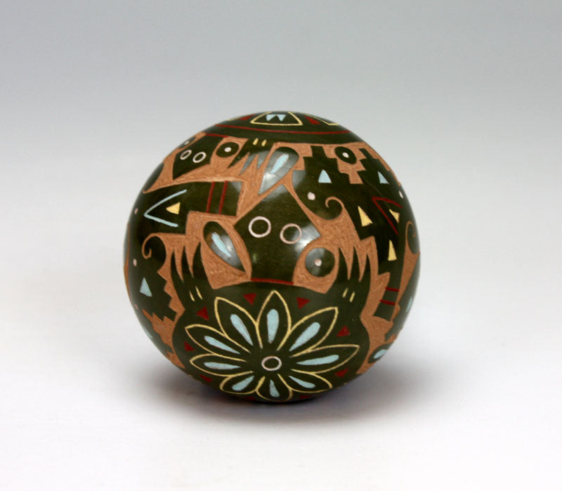 Santa Clara Pueblo Indian Pottery Turtle Seed Pot - Emily Tafoya