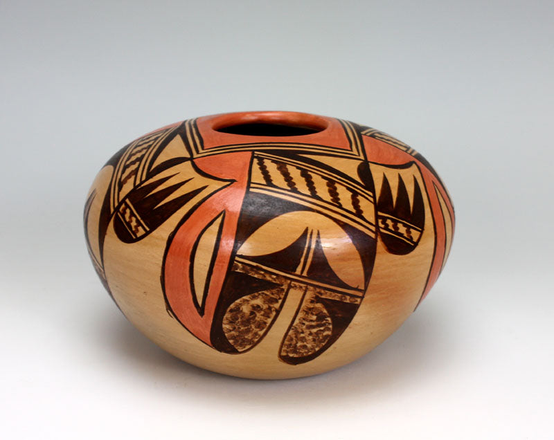Hopi American Indian Pottery Eagle Tail Jar #2 Jar - Adelle Nampeyo