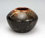 Santa Clara Pueblo Indian Pottery Sgraffito Hummingbird Jar #2 - Gwen Tafoya