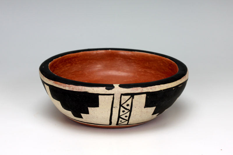 Kewa - Santo Domingo Pueblo American Indian Pottery Bowl - Dominic Melchor