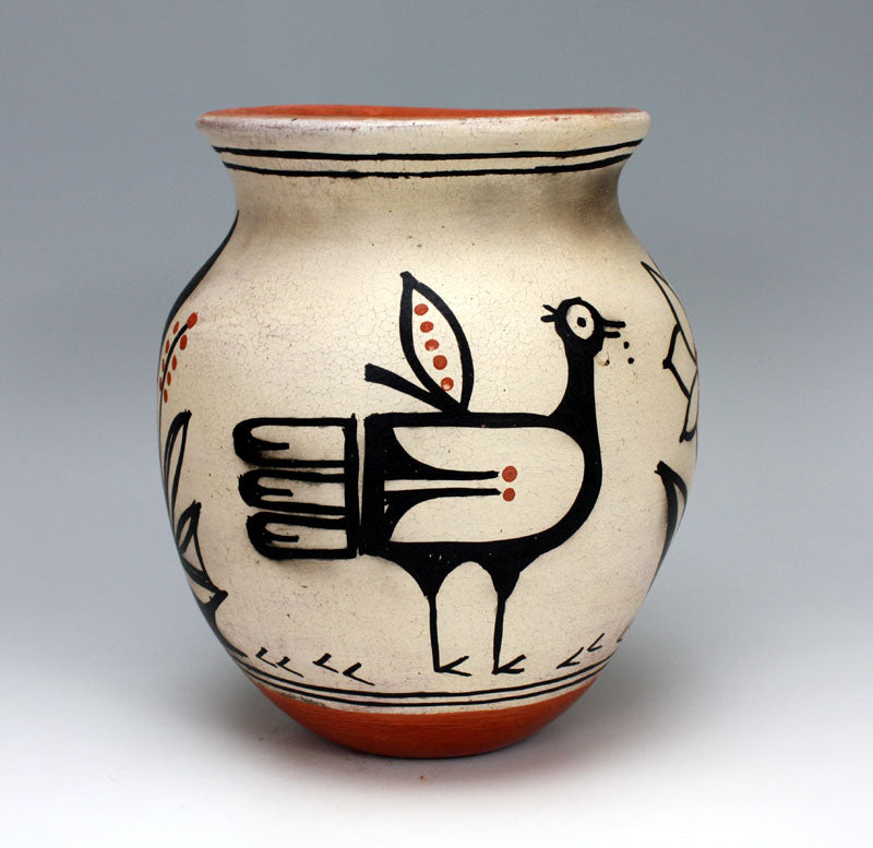 Kewa - Santo Domingo Pueblo American Indian Pottery Jar #1 - Marlene Melchor
