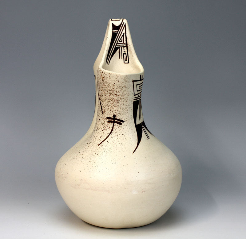 "Hopi Native American Pottery Wedding Vase #1 - Delaine ""Dee"" Tootsie Chee"